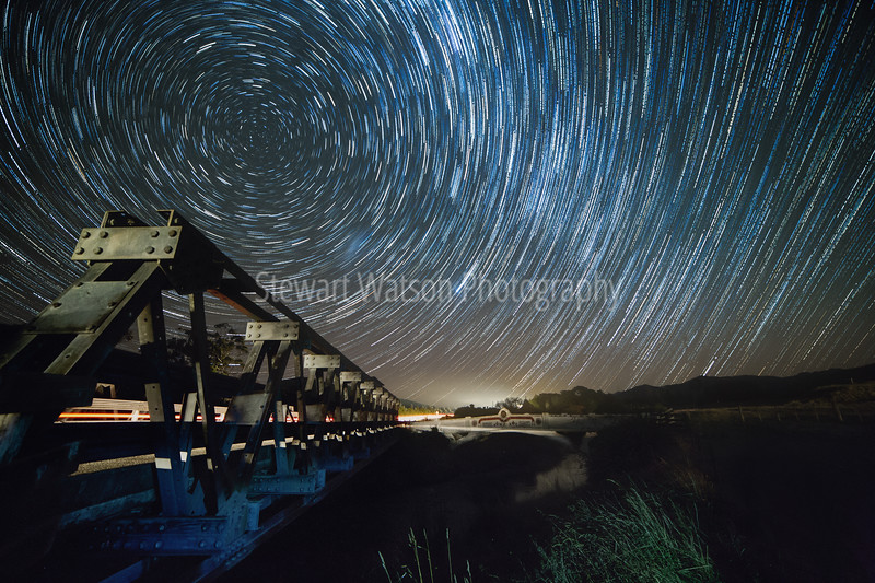 Anzac Bridge star trail, Masterton NZ