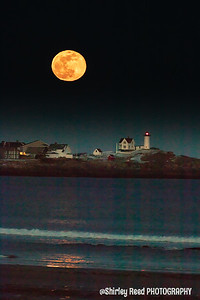 Nubble Lighthouse Snow Moon