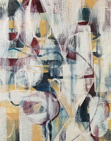 "Kate Jones, teacher ""Untitled"" acrylic on panel 11""x14"" $250"