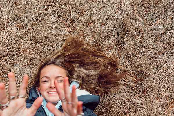 "Olivia Dailey, grade 12 ""Natural Happiness"" digital photography 5""x7"""