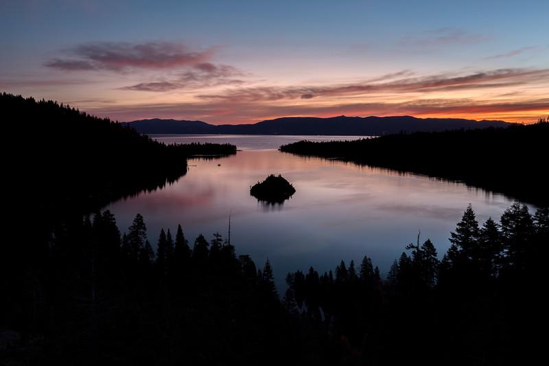 Sunrise at Emerald Bay State Park