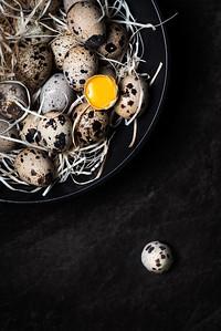 Quail eggs dark