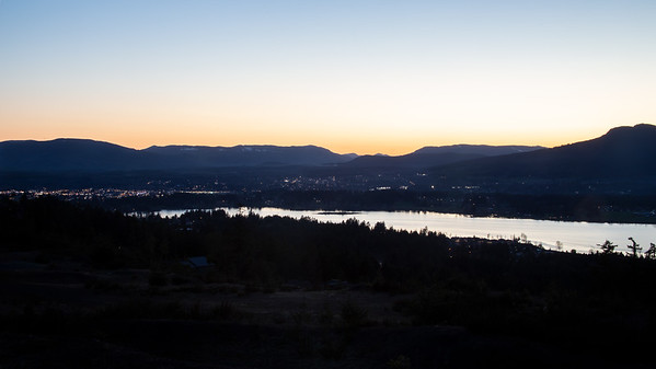 Duncan Night Cityscape - Duncan, Vancouver Island, British Columbia, Canada