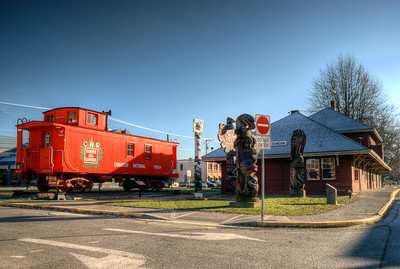 Downtown Rail Station / Museum - Duncan BC Canada