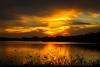 Sunset over Olney Lake