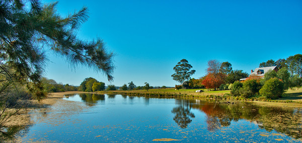 "Yarramundi Farm... 42"" Framed Print Donated to Nepean Hospital... on display in the Intensive Care Waiting Room."