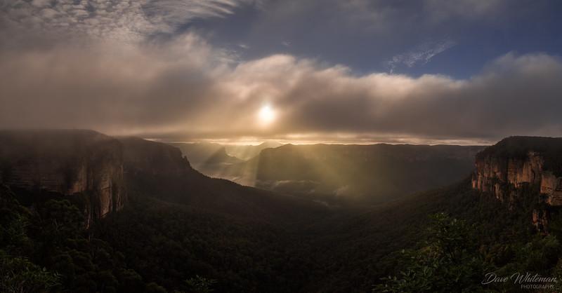 Sunrise Over Mt Banks