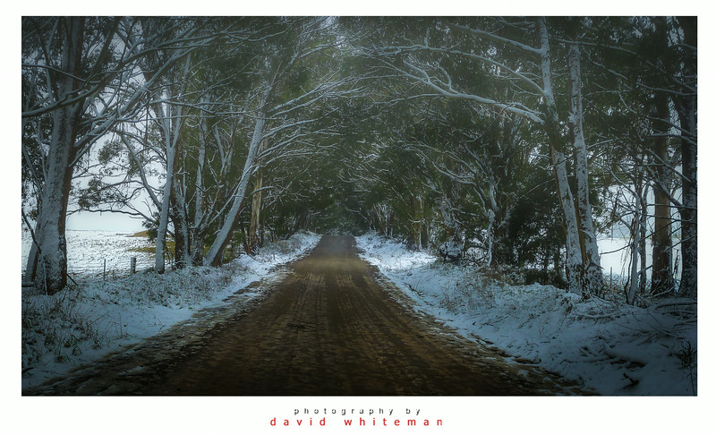 Chatham Valley Road in Winter