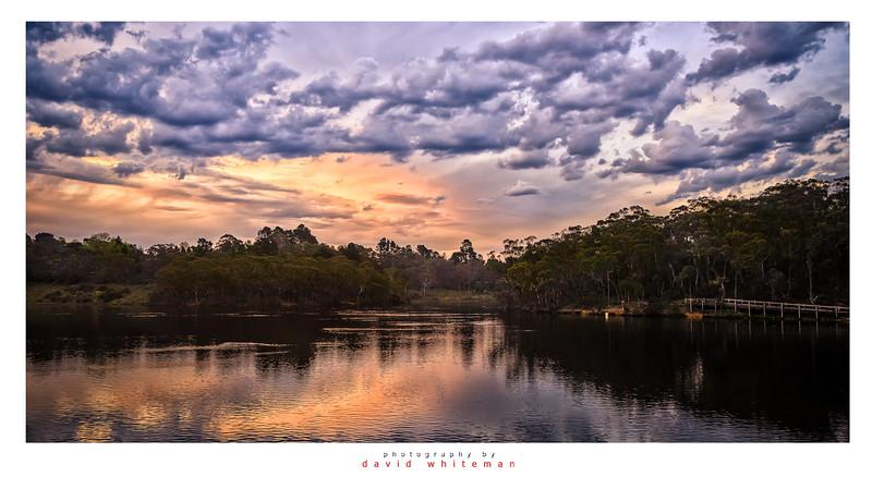 Sunset Over Wentworth Falls Lake