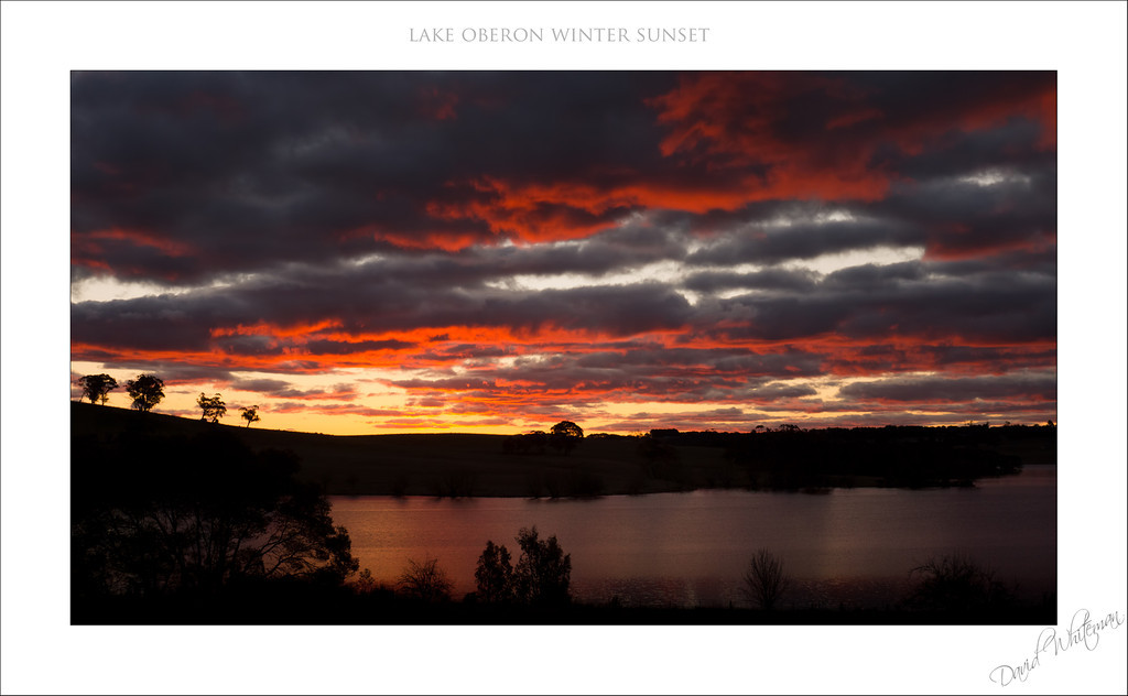 Lake Oberon Winter Sunset