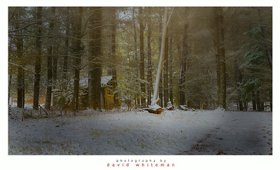 The Hut in the Woods after Snow