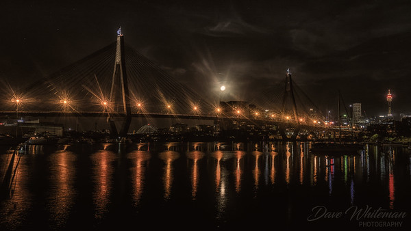 Moonrise Over the Anzac Bridge