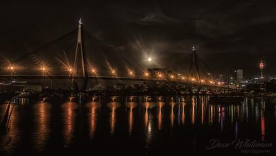 Moonrise Over the Anzac Bridge