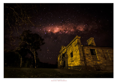Hartley Courthouse Under the Milky Way