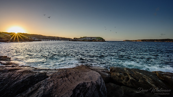 Sunrise over Bare Island at La Perouse