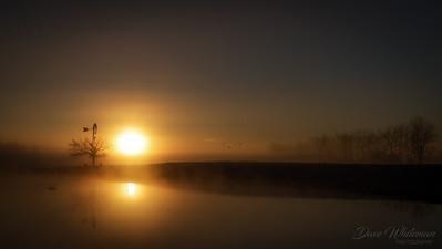 Sunrise at the Windmill