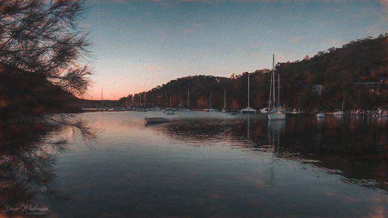 Winter Evening on McCarrs Creek