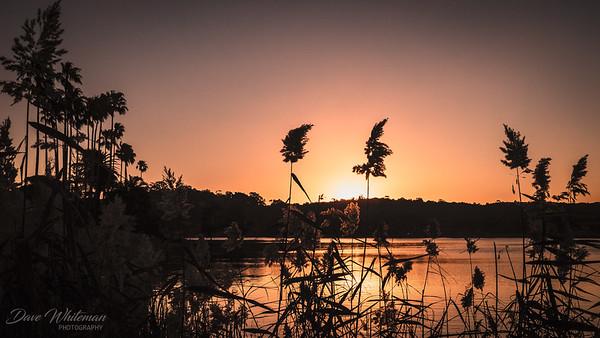 Sunset over Narrabeen Lake