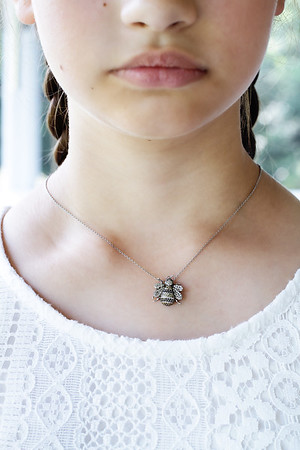 Girl with Honey Bee Necklace