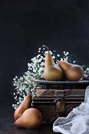 Pears and Baby's Breath