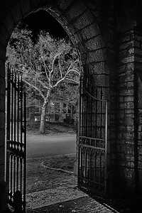 Gateway to All Hallows Eve, Black and White Fine Art Photography, Sedona