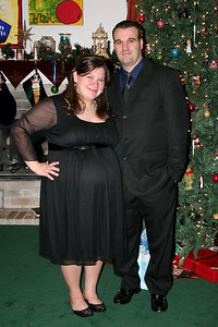 9 months pregnant (Nathan's Company Christmas Dinner)