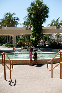 Then, we make a wish in the fountain (and steal money from the fountain when no one is looking).