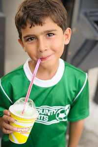 Today, Ryan got a Slurpee for all his school achievements: meeting his AR goal, staying on green (not being silly in class), and remembering to turn in his Spanish homework. Congrats, Ryan!