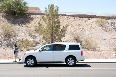Rene and I fell in love with our rental, a Nissan Armada.
