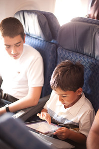 Ryan made a friend on the plane. Andre and he played on the iPad the whole flight to Las Vegas. It was fantastic.