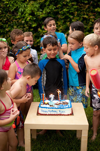 See that rascal blowing out Ryan's candles? He was unstoppable. Love that little guy.