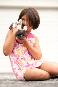 I had to take the bunny out for a shoot with Isabel! We were really careful, but that little guy can wiggle its way out of a lap pretty quickly.