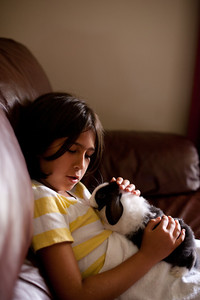 The sweetness of pet sitting. And watching Chicken Little.
