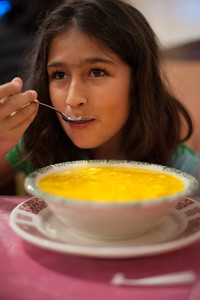 Isabel LOVES egg drop soup. It's her standard order.