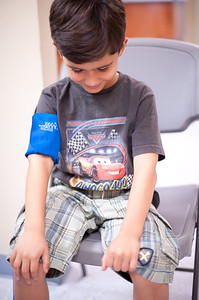 Ryan's visit to the hematologist as part of pre-surgery preparation  for his tonselectomy and adenoid removal - scheduled for the July.