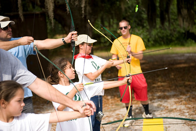 Archery session at the Circle F Dude Ranch (Lake Wales, FL)