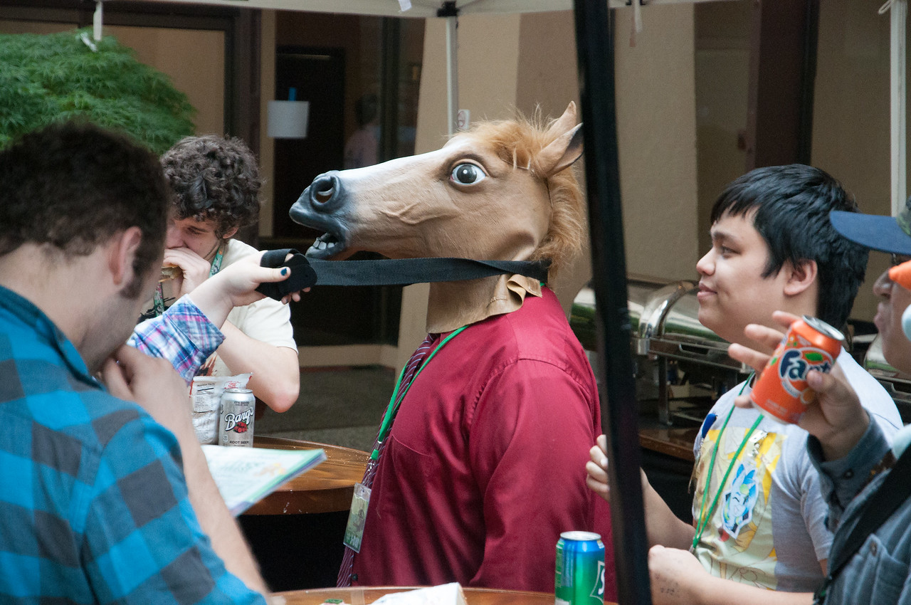 """Costumes and themed wear were everywhere of course, and it didn't necessarily need to be MLP themed. I learned that this is called """"Cosplay."""" Never heard the word before; didn't know how to pronounce it. Then, of course, the next day I saw it again as one of the new dictionary-worthy words of the year."""