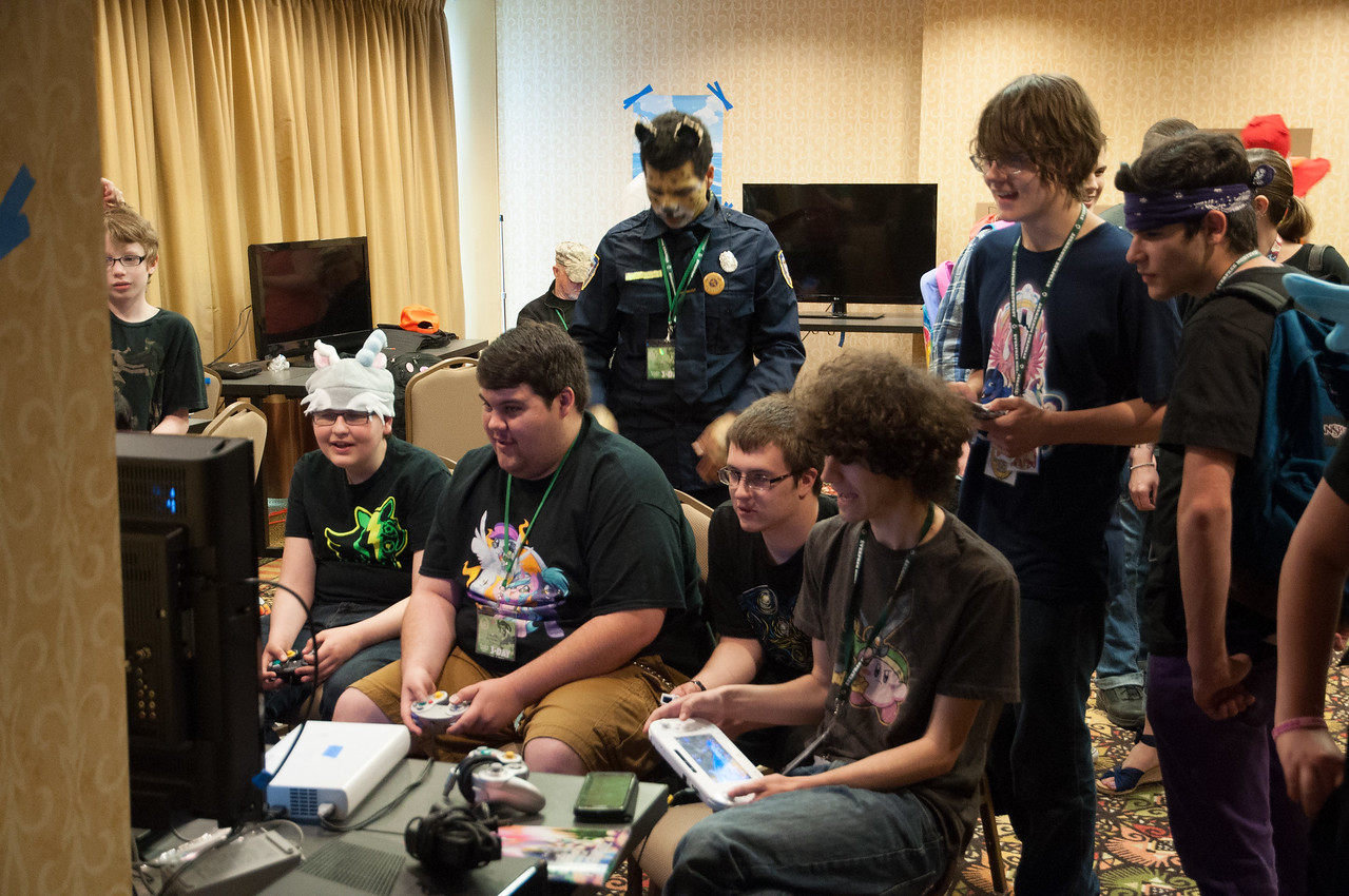 These Bronies were glued to the Electronic Game Room. Tammy, my co-parent-chaperone for the day, pointed out that the room smelled horrendously of post adolescence funk. Indeed it did.