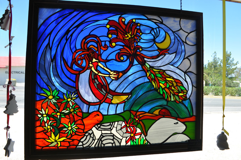 """This glorious stained glass piece by Doug Whitfield of the 29 Palms Creative Center, is called """"Heavenly."""""""