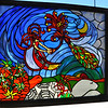 "This glorious stained glass piece by Doug Whitfield of the 29 Palms Creative Center, is called ""Heavenly."""