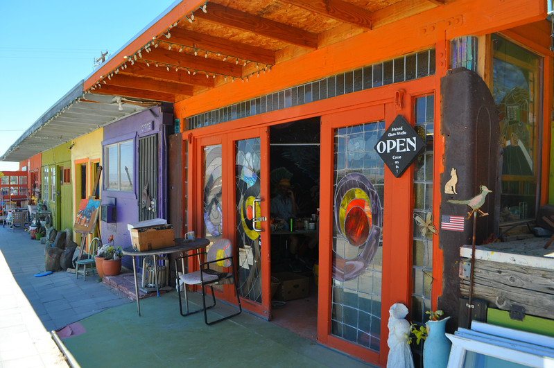 Stained glass, pottery, painting and more at the   29 Palms Creative Center and Art Gallery
