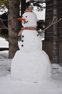 Frosty the Snowman...chillin in West Yellowstone, Montana following the holidays. West Yellowstone, MT. 12.09