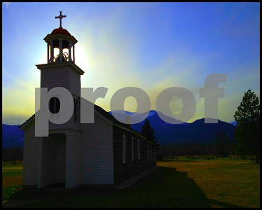 St. Mary's Mission, 1st Church in Montana. Stevensville, Montana. 4.12