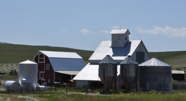 Farming in Montana. Near Norris, Montana.  7.09