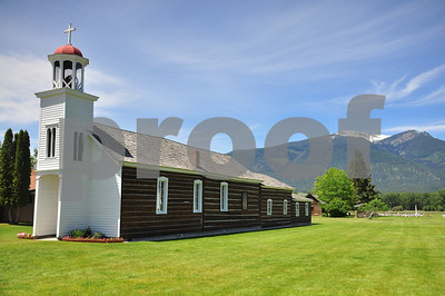 St. Mary's Mission, 1st Church in Montana. Stevensville, Montana. 5.12