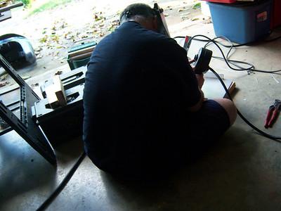 Building the rear racks