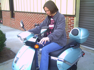 Sarah on Scooters