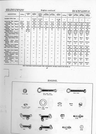 1927 BSA parts book  - engine 1