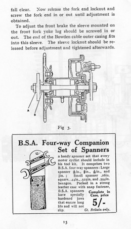 1927 BSA  book page 15