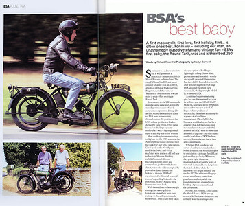 1926 BSA Roundtank Article Pages 1 and 2